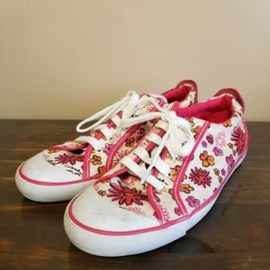 Coach Barrett Poppy Pink Flowers Sneakers Shoes